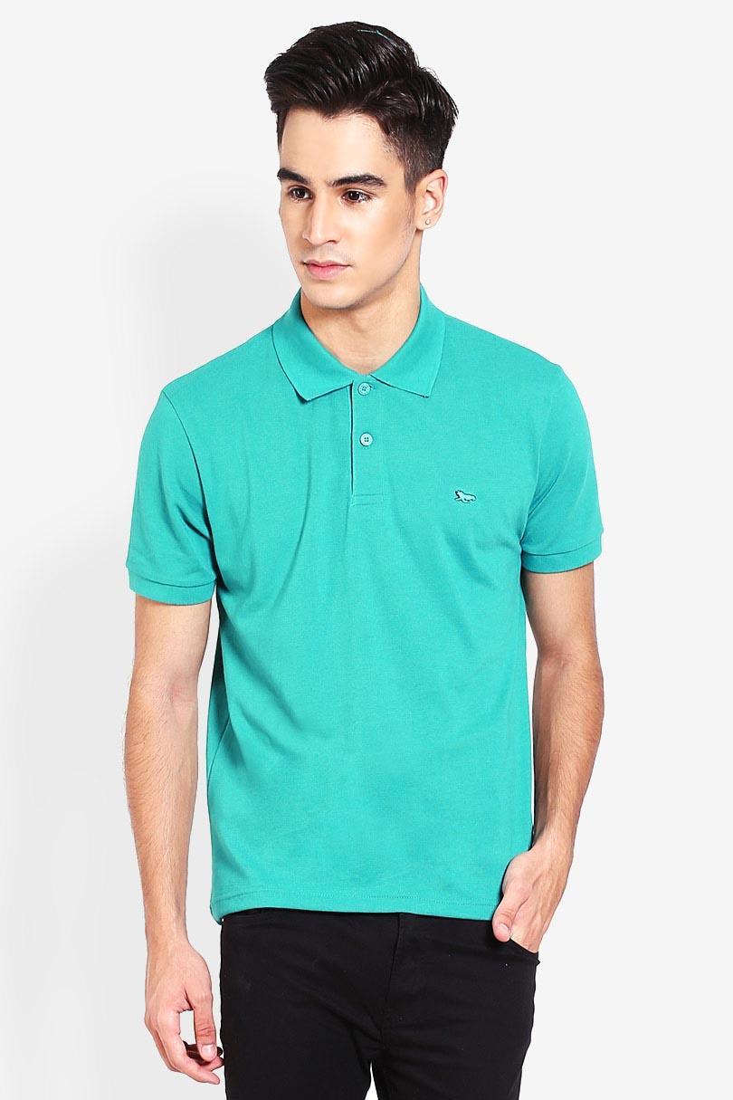 WLRS Basic Comfort Polo Shirt Green Pakaian Atasan Kemeja Formal Pria