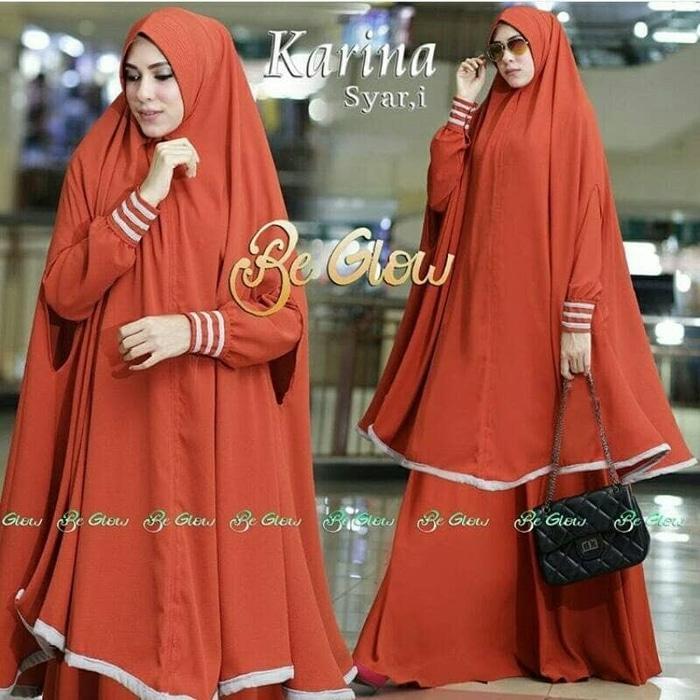 Hot Promo Pakaian muslim wanita murah baju muslim wanita Syari Long Bergo Kari