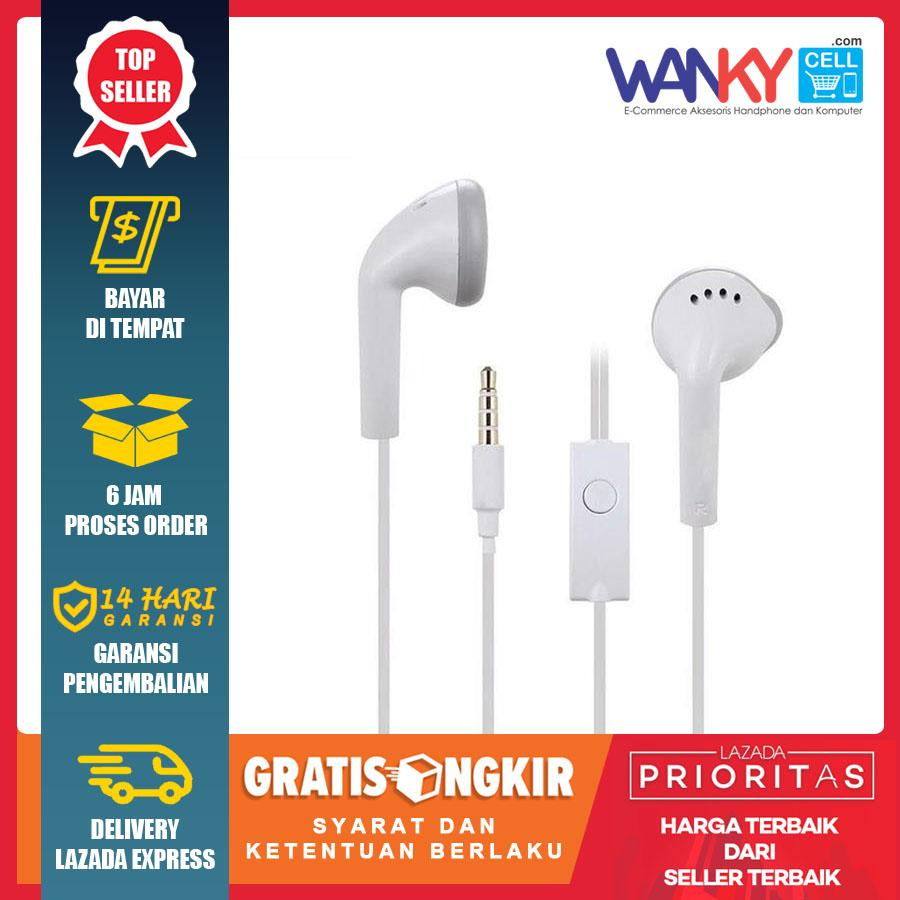 Headset Stereo In-Earphone Non Karet Music Audio 3.5mm For Handphone Samsung/Xiaomi/Vivo/Oppo