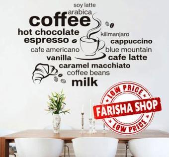 Pencari Harga Wall sticker Coffee Words JM7323 (90x60) Stiker Dinding terbaik murah - Hanya