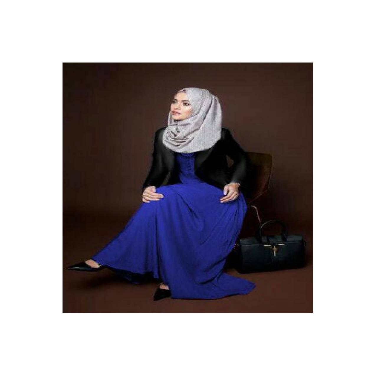 Furla Blue Set Hijab 3 In 1 u/ wanita anak hijabers modis halus nyaman