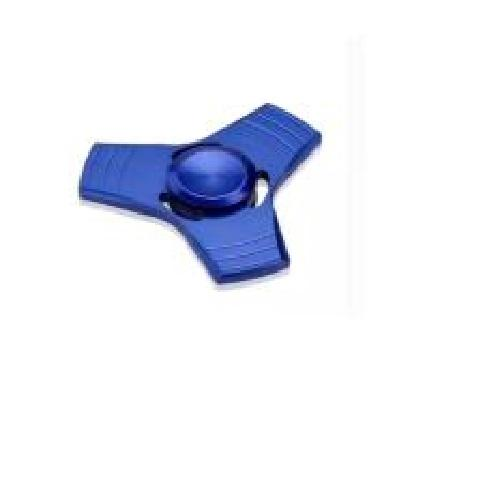 Aiueo Fidget Spinner Hand Spinner Fidget Metal Triangle Aluminium Toy Mainan Stress Fidget Ufo Anak ADHD  - Blue