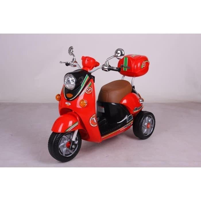 Mainan Anak Motor Aki M3381 Scoopy By Mykidshop89.