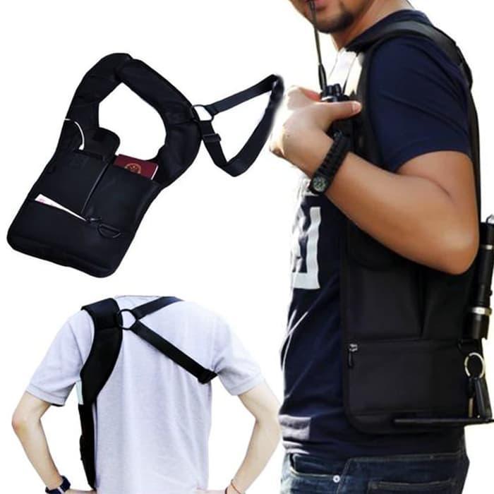 ASLI!!! Tas Gadget FBI Style Anti Maling Soulder Bag Tas Motor Tas Sepeda Pols - NLv2Fo
