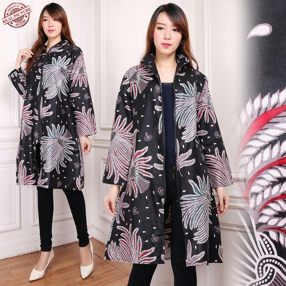 Glow Fashion Blazer 2in1 batik dress maxi pendek atasan blouse short tunik kemeja wanita jumbo mini