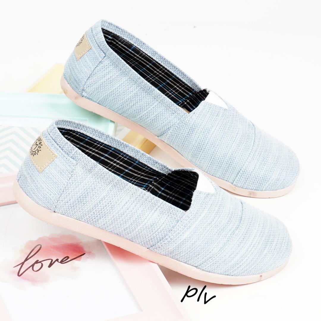 Sepatu Wanita Flat Shoes Slip On Kanvas Ns55 Abu Daftar Harga Kerja Lukis  Slipon Px Style Suster Serat Sky Blue