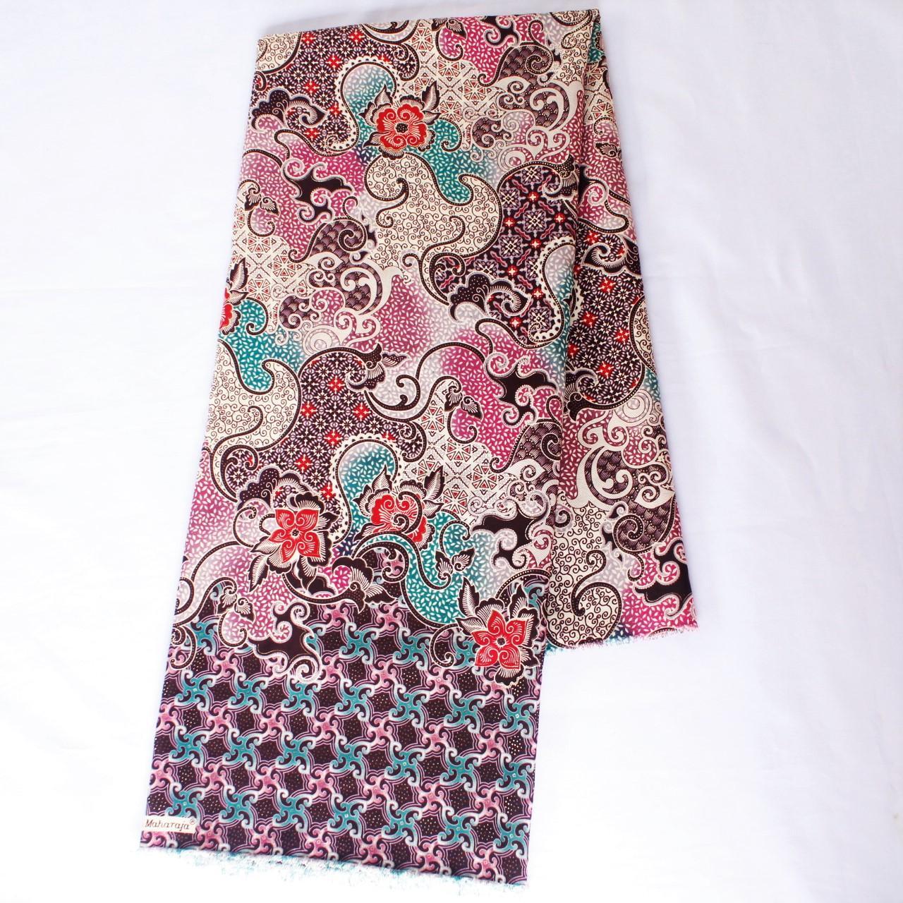KBS022 Kain Batik Meteran Semi Sutra Bawahan Kebaya Modern Bahan