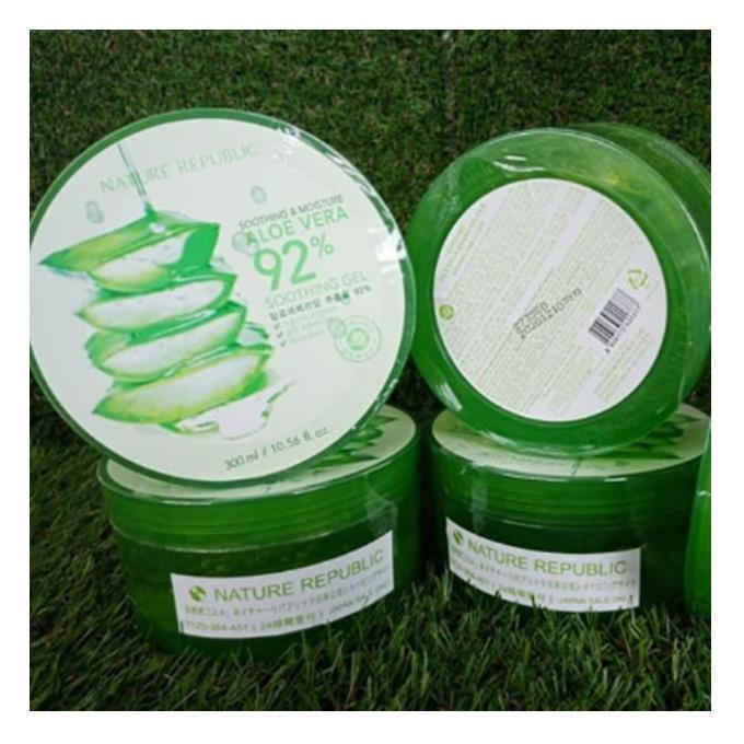 Nature Republic Aloe Vera Soothing Gel 92% ORIGINAL Korea Import Jepang 300ml 1 Logo Dekat Barcod