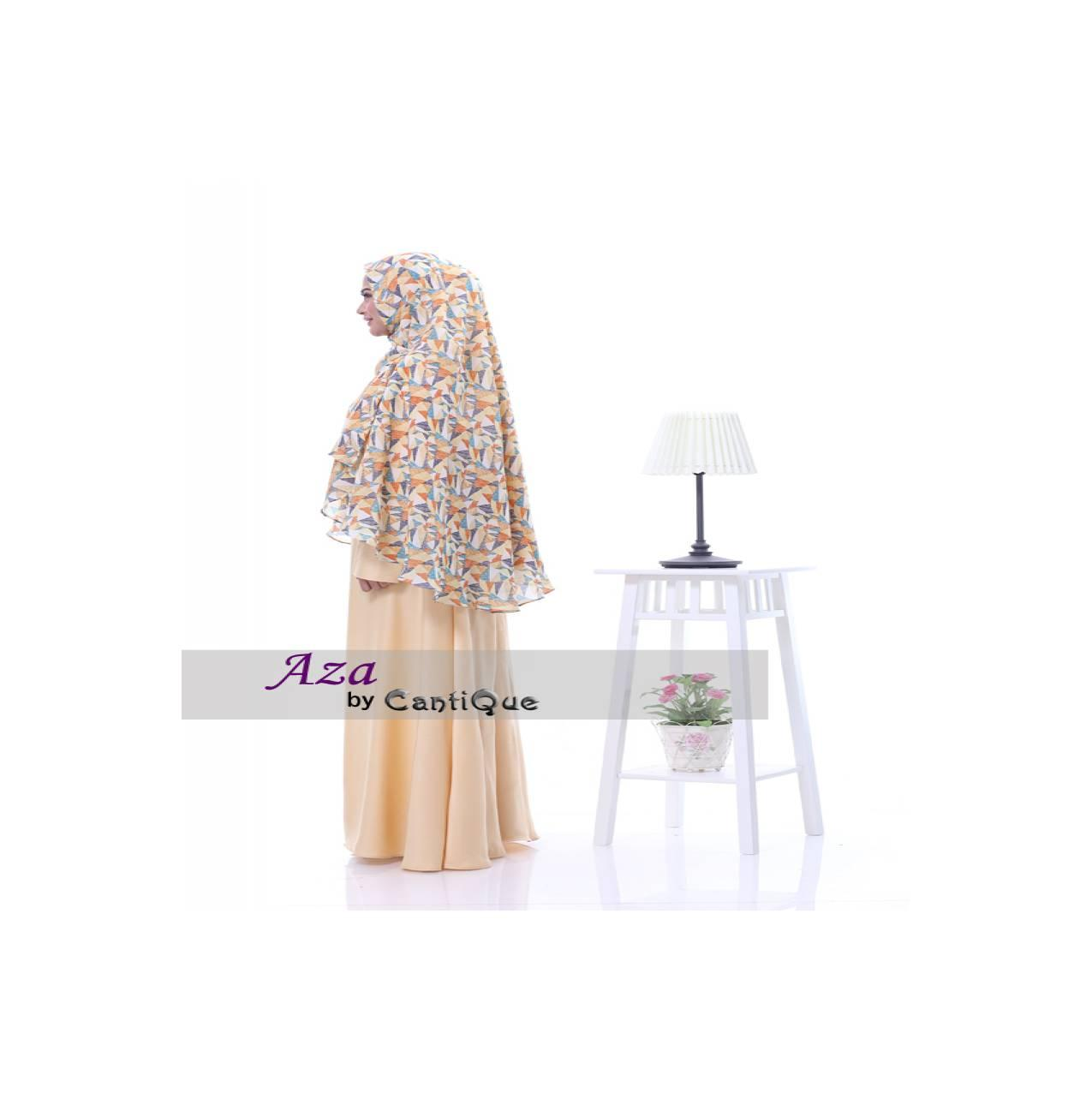 Safeera Cantique Gamis Syar'i Safeera - Cream Muda