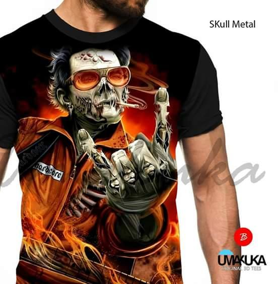 Kaos markoa3D FP UMAKUKA (Skull metal) - size L