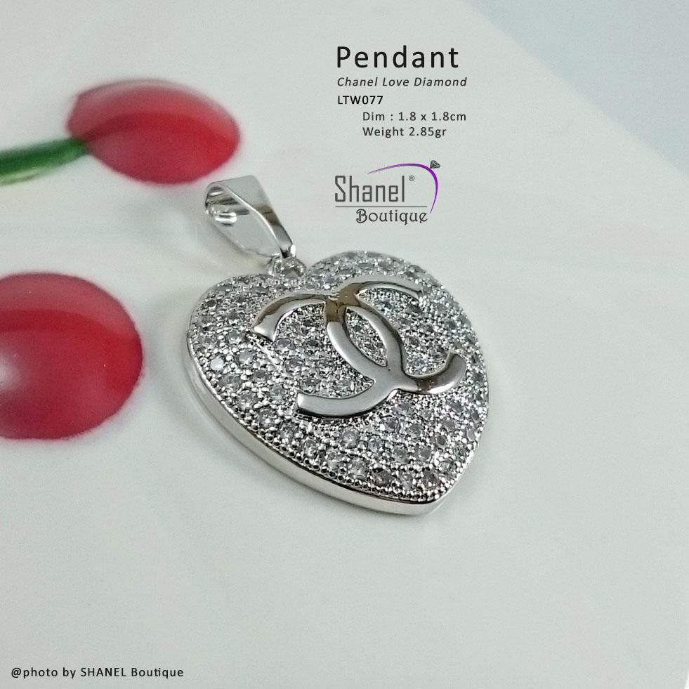 Xuping Jewelry Liontin LOVE CHANEL perhiasan lapis emas LTW077