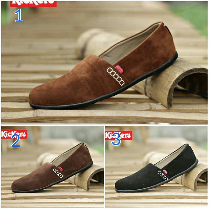 Sepatu Kulit Pria Kasual Grade Original Premium Kickers Slop Mocasin Source  · sepatu kickers amazon slop 3b4104f37d