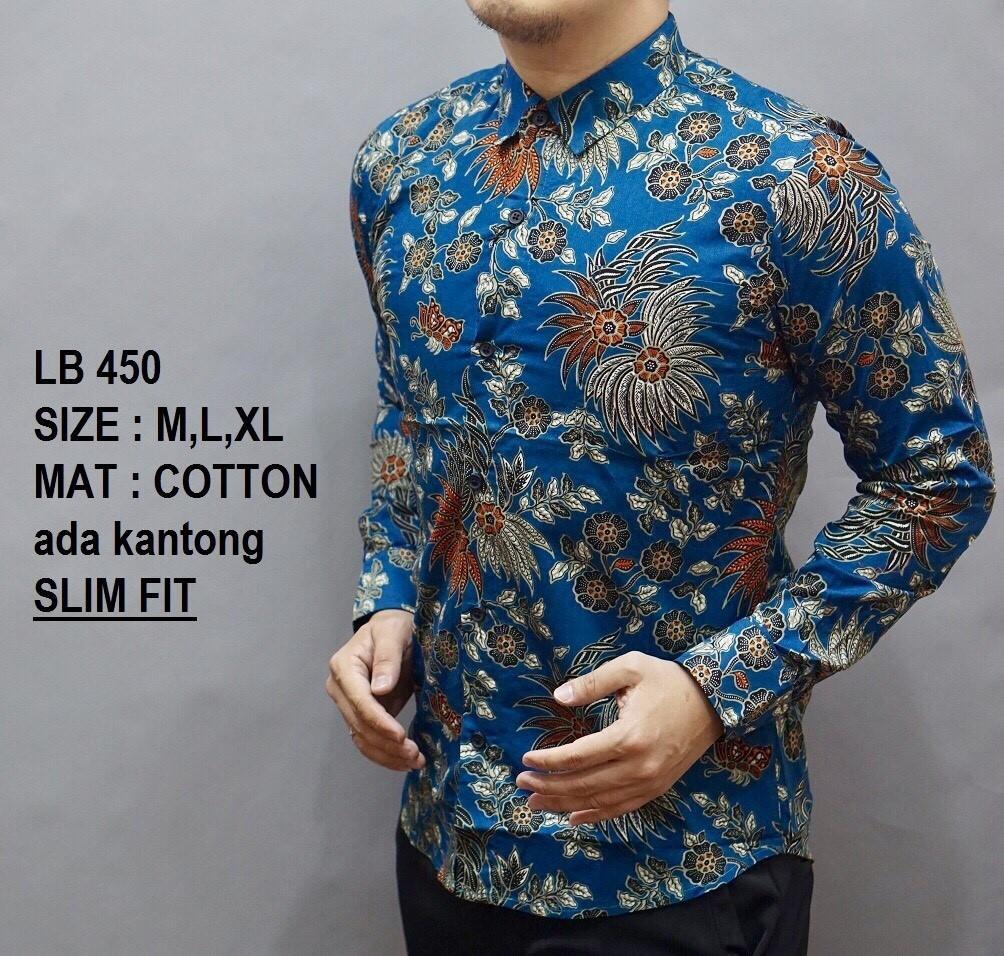 Baju Kemeja Batik Pria Slimfit / Model Batik Terbaru / Atasan Batik / Kemeja Pria