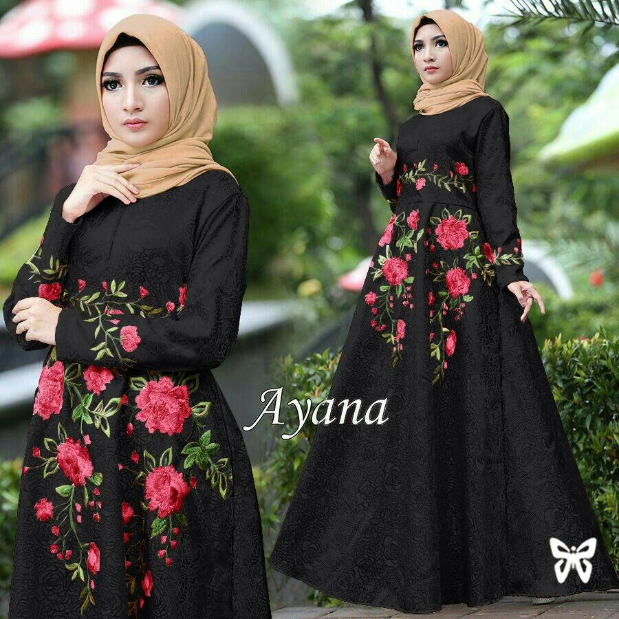 J&C Dress Ayana Jumbo / Dress Maxi / Maxi Muslim / Dress Jumbo / Dress Big Size / Dress BigSize / S