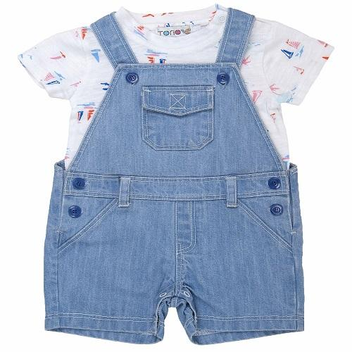 Baju Anak Laki-Laki Torio Blue Bayou Little Sails Jumper Set