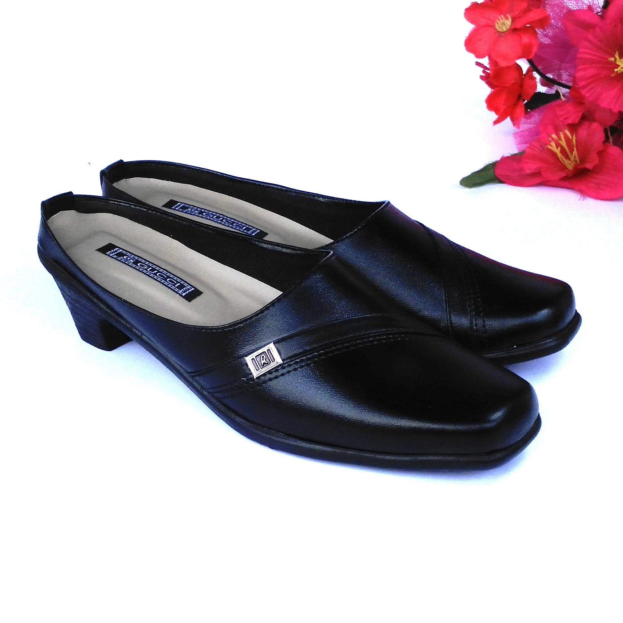 HQo Sepatu Pantofel Wanita / Sepatu Wanita Formal / Sepatu Pantofel Paskibra Wanita Bertali / Sepatu Kerja Wanita / Sepatu Kantor Wanita / Sepatu Kulit Wanita / Sepatu Sekolah Anak Wanita Hitam / SC01