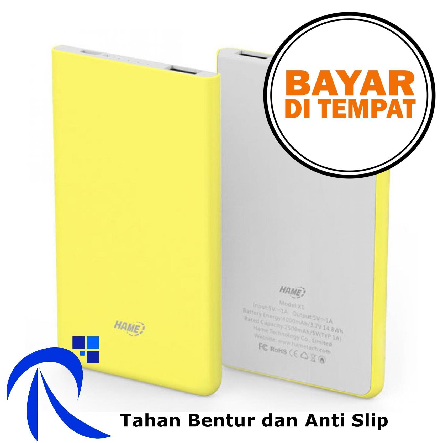 Power Banks Hame H13d Bank 2 Port 10000mah Cod X1 1 Usb 4000mah Tahan Bentur Anti Slip