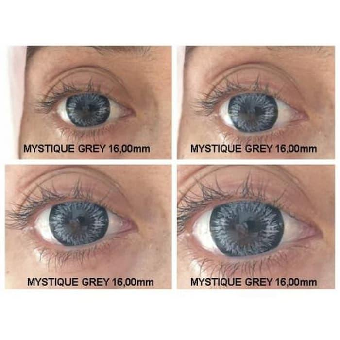 Promo - Softlens MISTIQUE BLACK dan GREY 16mm Original