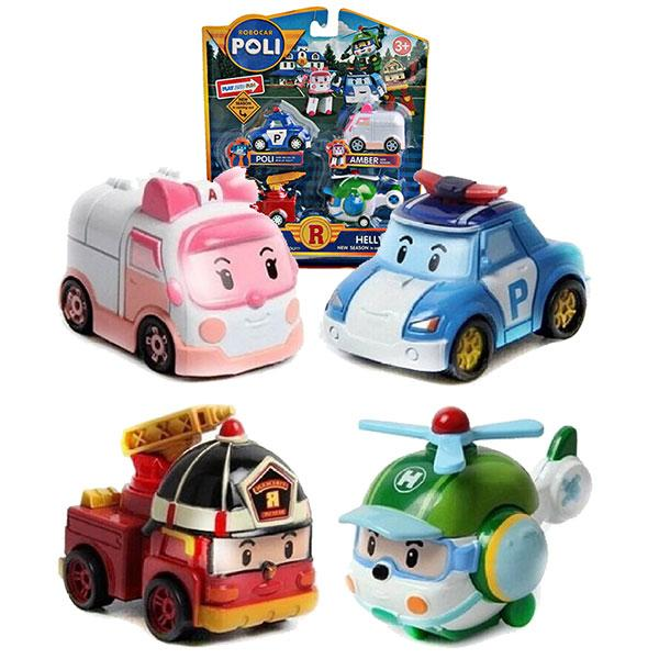 Bb Mart Robocar Poli 4 Pcs Pull Back Mika By Bb Mart.