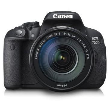 Canon Digital EOS 700D with lens 18-135IS STM