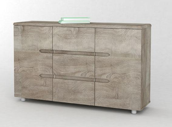 Anya-Living Lemari Bufet Easy Sonama Oak By Anya-Living.