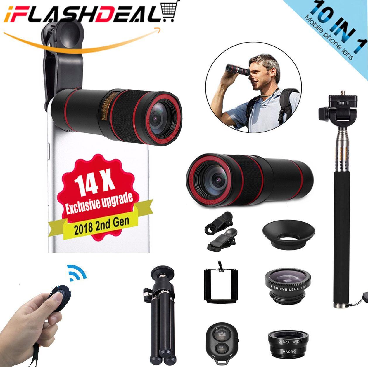 Jual Lensa Kamera Smartphone Harga Terbaik Zoom Hp 18x Untuk Semua Jenis Original Apexel Iflashdeal Tongsis Tripod Phone Camera Lens Set For Mobile 10 In1