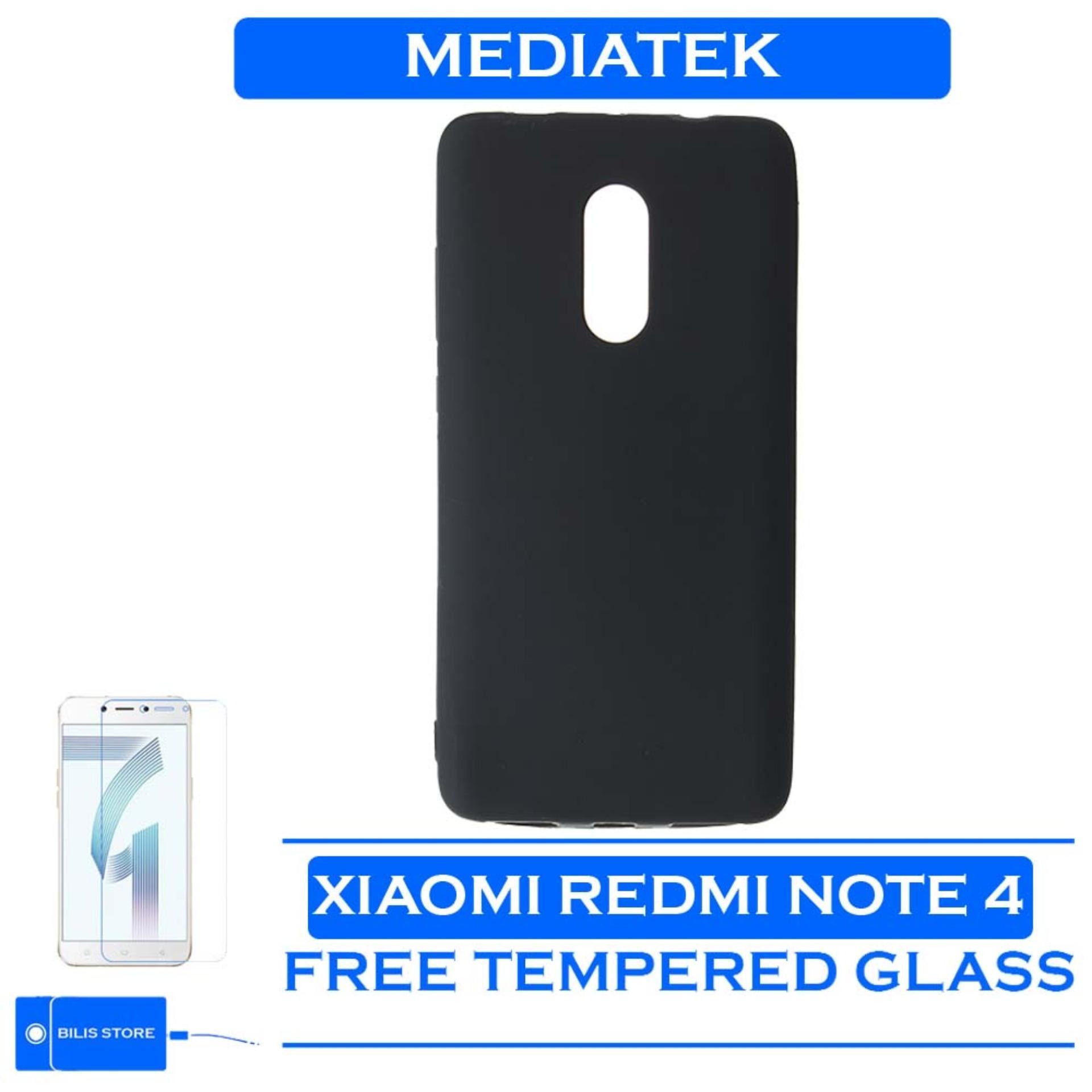 Xiaomi Redmi Note 4 Mediatek Casing Hp Xiaomi Black Matte Ultraslim Casing Hitam Polos Case Xiaomi Redmi Note 4 Mediatek Cover ++ GRATIS TEMPERED GLASS