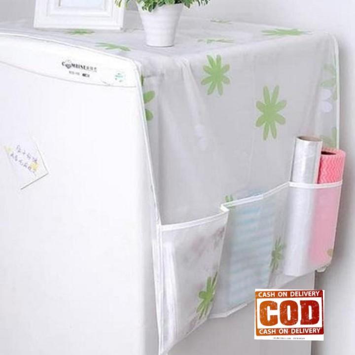 DapurBunda CPK Cover Penutup Kulkas Anti Air dan Debu / Taplak Penutup kulkas Dengan Kantong Kuat