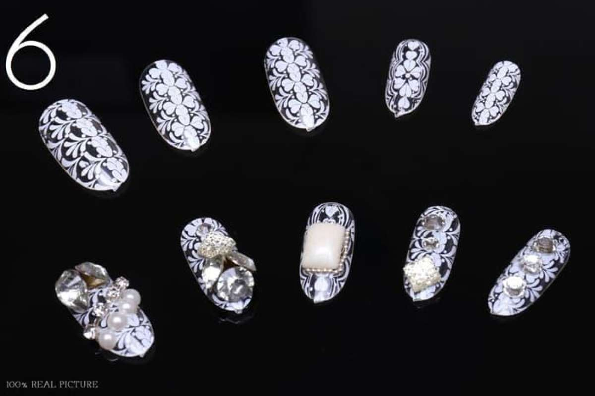 Jual Kuku Palsu Handmade Wedding Di Kota Singkawang Harga Coret Jbs Nails Fake Nail Art 3d A18