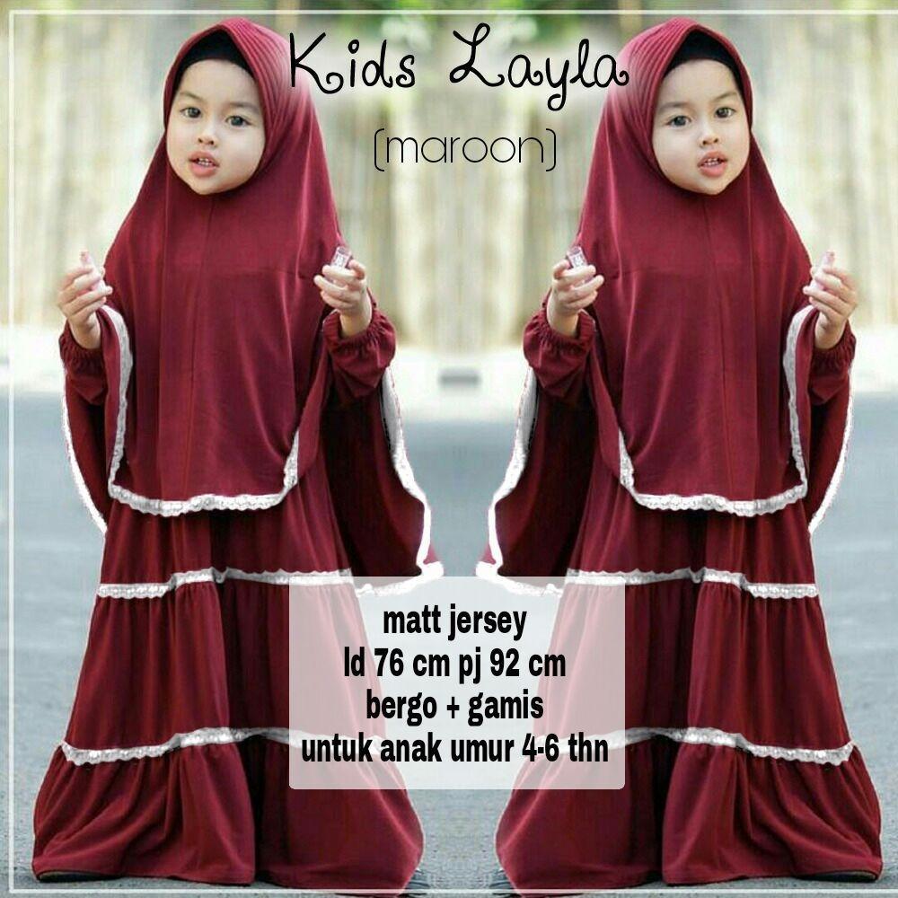 GSD - Baju Muslim Anak / Baju Anak/ Gamis Anak / Baju Anak Cewek / Hijab Anak Lala Kid