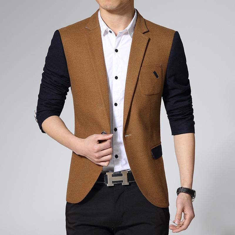 Jaket Kulit - Blazer Pria Comby Executive Style Coklat Hitam