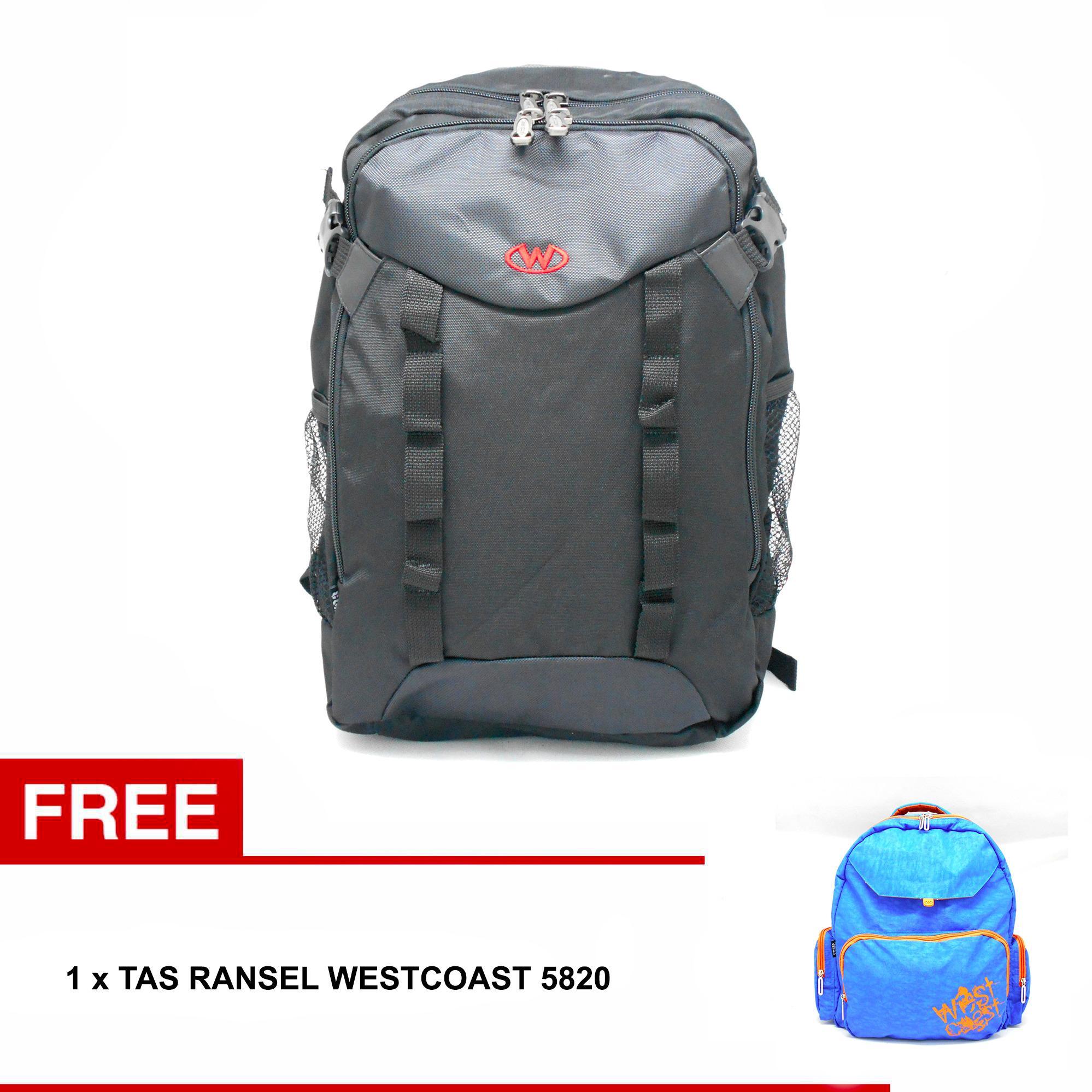 Tas Ransel Punggung Backpack Laptop Notebook Pria Cowok Laki Eksekutif 5876 Hitam westcoastid