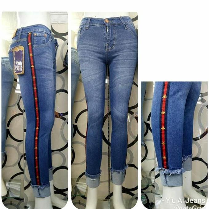 JHF Terlaris - jeans wanita - Olla ripped 7/9 stik balik - fashion