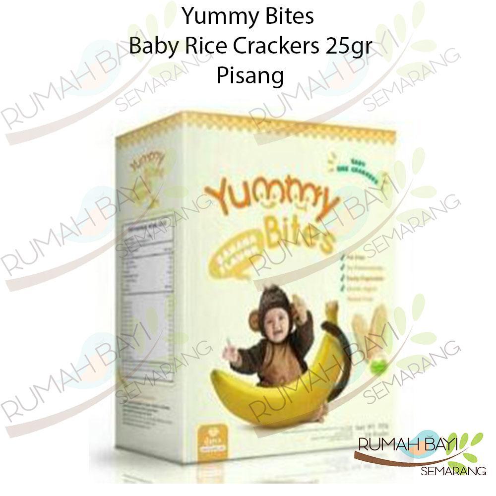 Yummy Bites Baby Rice Crackers Pisang 25gr - Snack Sehat Bayi