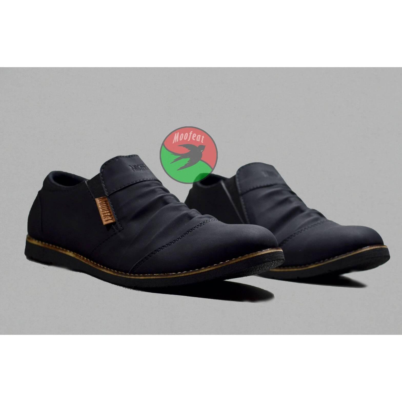 sepatu formal slip on kerja kantoran pria moofeat wrinkle original handmade