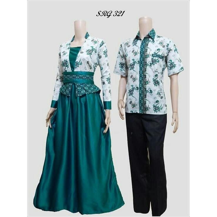Baju Batik Couple   Baju Muslim Wanita Terbaru 2018   Gamis Wanita Terbaru    Batik Sarimbit c3b8d44cec