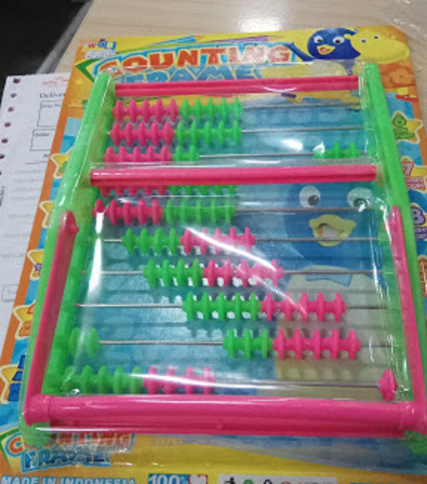Griyaazzadot Mainan Anak Sempoa Pintar Matematika SD TK Belajar Berhitung Multi Warna
