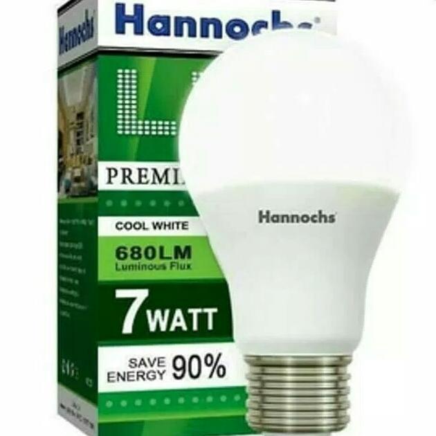Lampu LED Hannochs Premier 7w 7 watt Putih - Bohlam Hemat Listrik