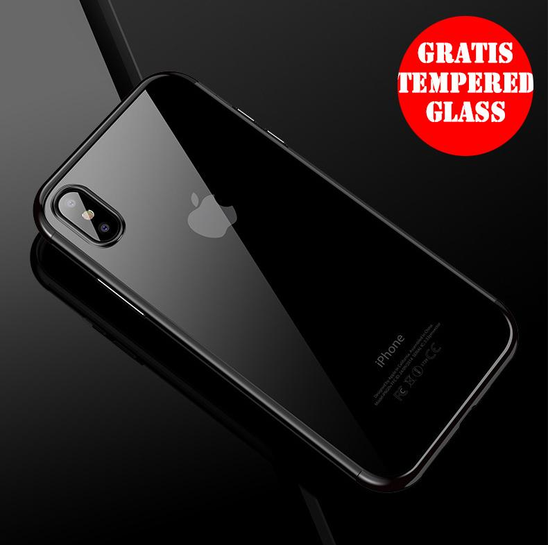 WEIKA iPhone X Shiny Transparen Bening Ultra Thin TPU Soft Case