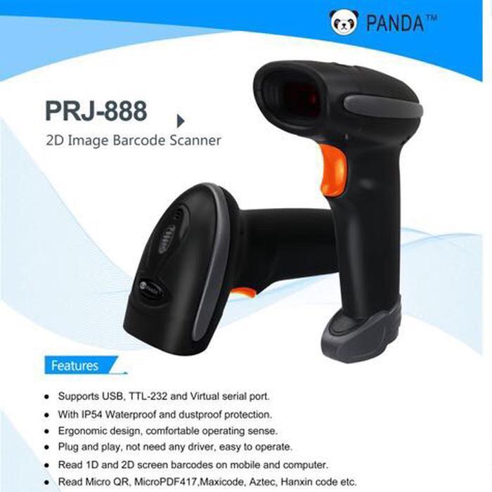 BARCODE SCANNER E-FAKTUR 2D/1D PANDA PRJ-888 (QR CODE-EFAKTUR-AZTEC) / best sale barcode scanner 2d e faktur panda prj 888