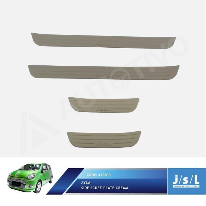 Daihatsu Ayla Side Scuff Plate Cream / Sillplate Samping Krem JSL