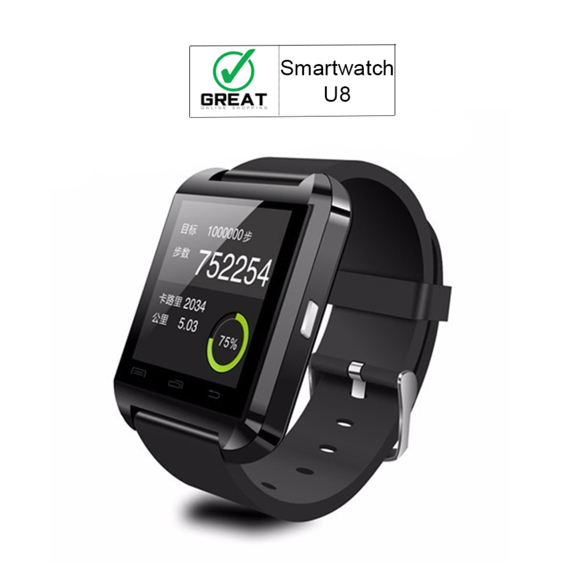 Great U8 Smartwatch For Android Rubber Strap - Hitam