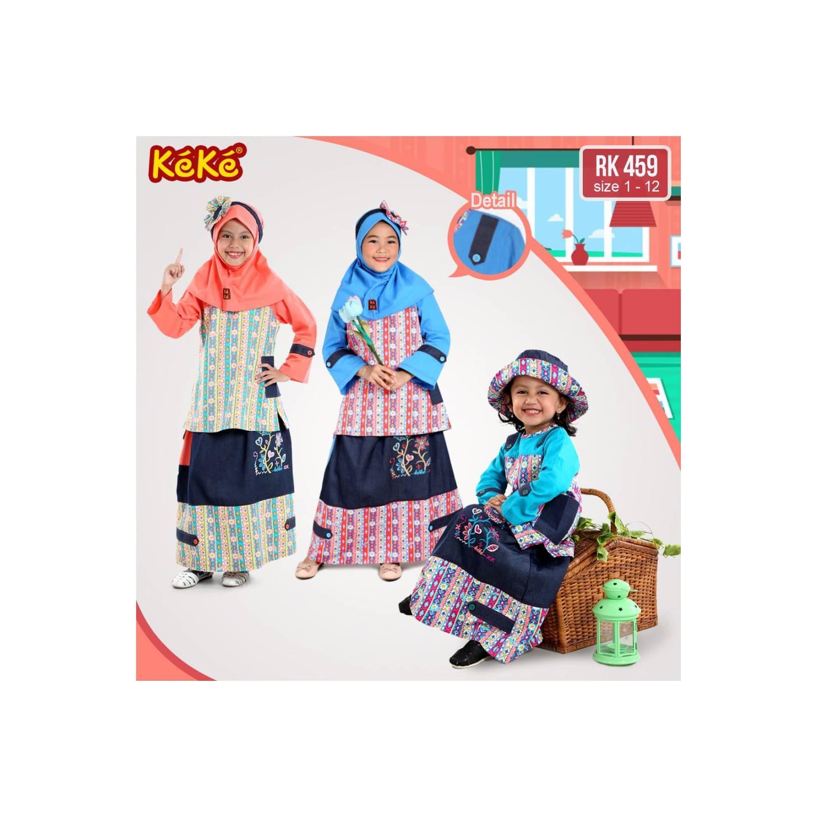 gamis anak/baju muslim anak keke size 8