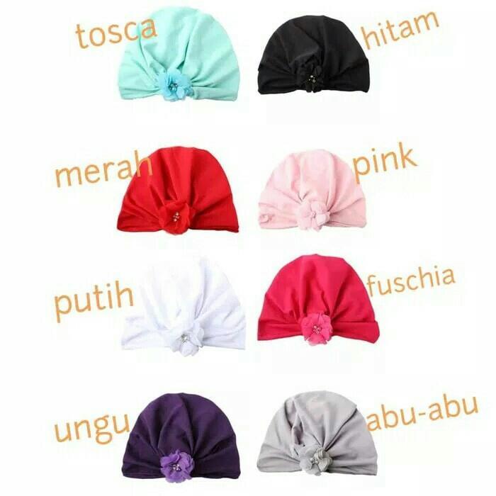Best Seller – Topi Turban Bayi Dan Anak Dengan Bunga Kecil 3 – 18 Bulan –  Topi Bayi Terlaris Dan Terbaru 0b1dd58630