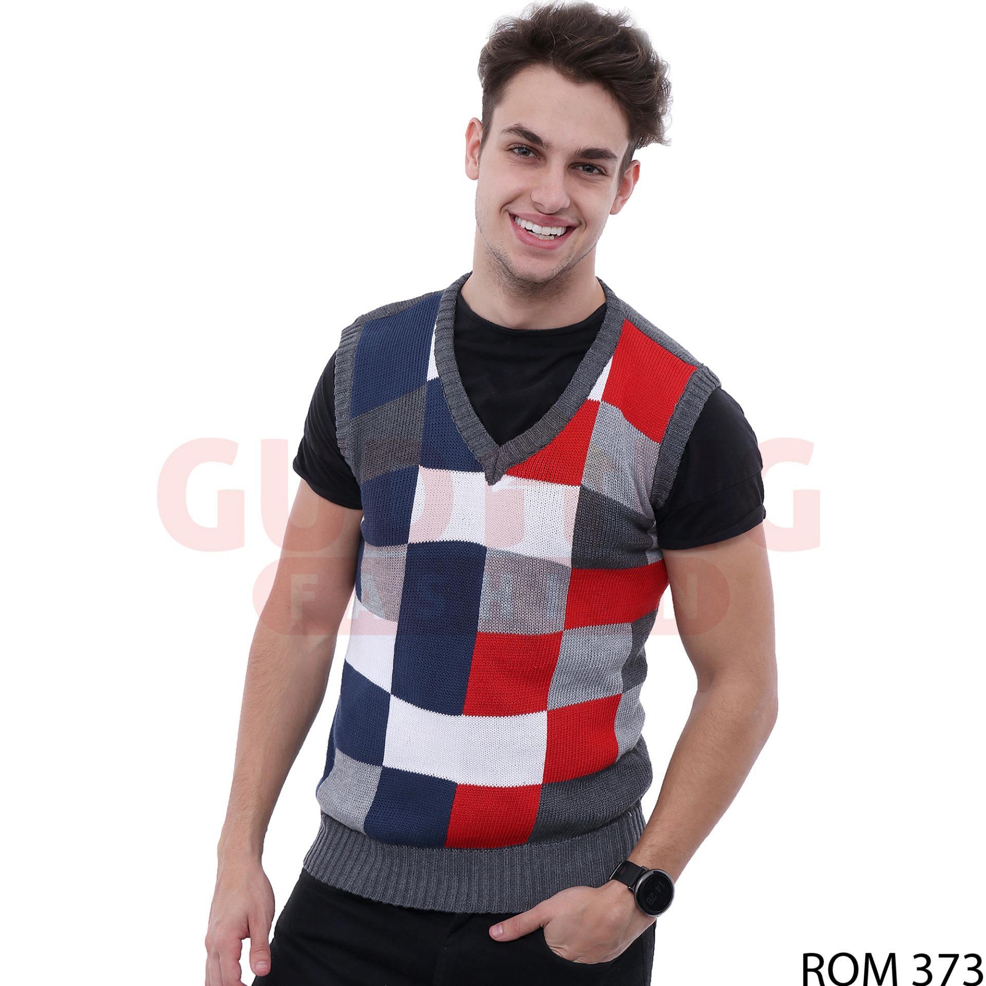Gudang Fashion - Sweater Rompi Rajut Pria