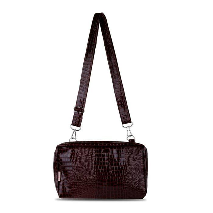 BEST SELLER!!! Quinta BBO croco glossy - dark brown - aJS7Om