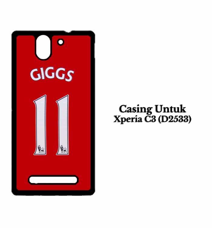 Casing Xperia C3 (D2533) giggs 11 part 2 fix Custom Hard Case Cover
