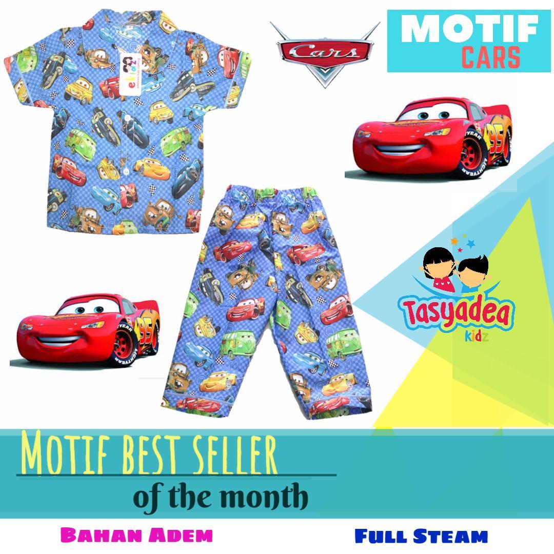 Baju Piyama Anak Motif Ngetrend / Piama / Pajamas Kids / Baju Tidur Anak Cewe Cowo Bajan Katun Moti