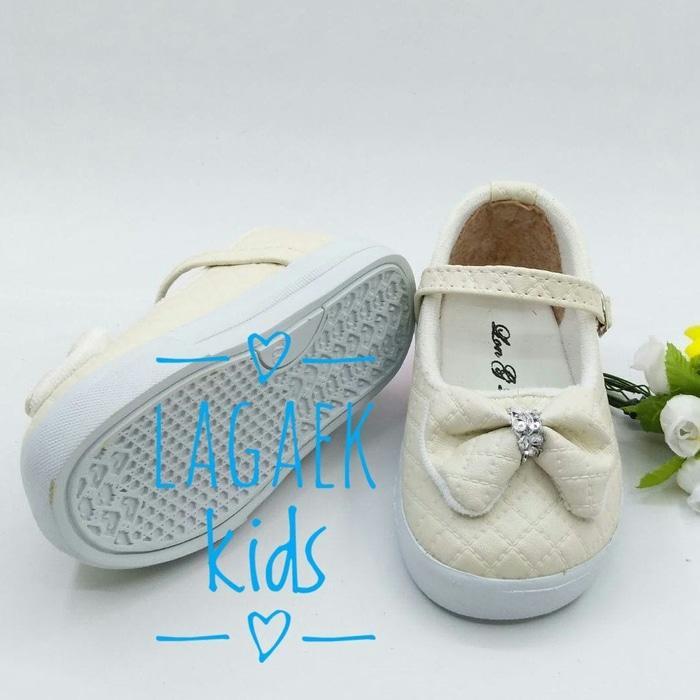 DISKON sepatu anak 1 2 3 Tahun replika GUCCI/Sepatu Anak perempuan KREM BTF03 TERMURAH