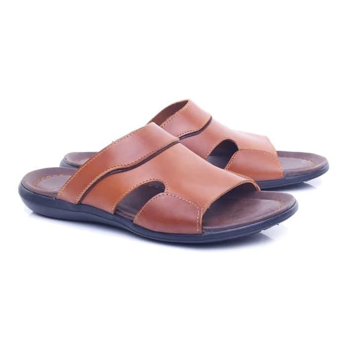Sandal laki-laki/sandal pria sandal kulit Sandal Pria Casual Gaya keluaran terbaru model terbaru kualitas bagus harga murah warna coklat